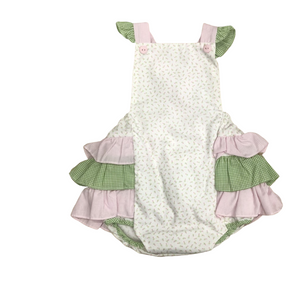 Pink and Green Ruffle Bubble