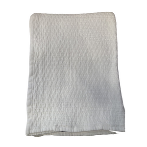 SI White Cotton Weave Blanket