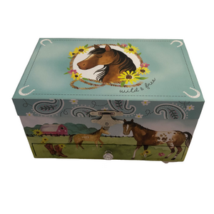 Horse 1 drawer Jewelry Box
