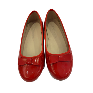 Red Patent Ballet Flat with Bow