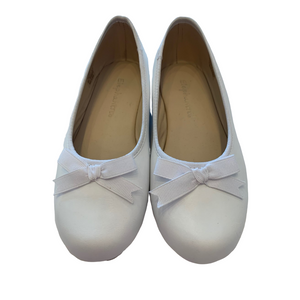 White Ballet Flat with Bow