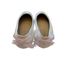 Load image into Gallery viewer, White Ballet Flat Bow Back