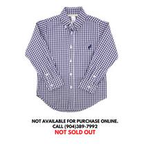 Load image into Gallery viewer, TBBC Deans List Dress Shirt Nantucket Navy Check