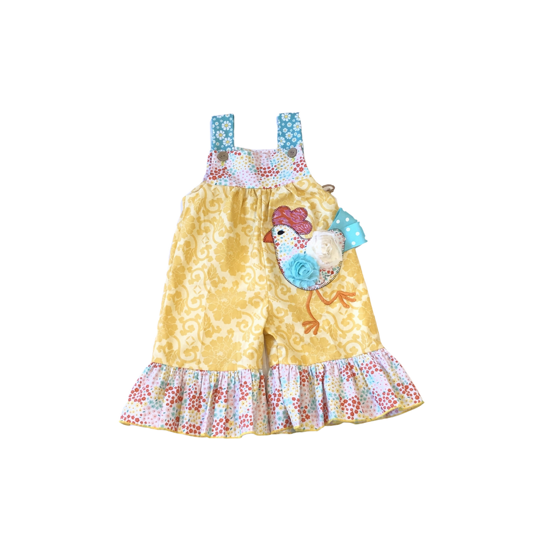 LJ Chicken Playsuit with Ruffle Bottom