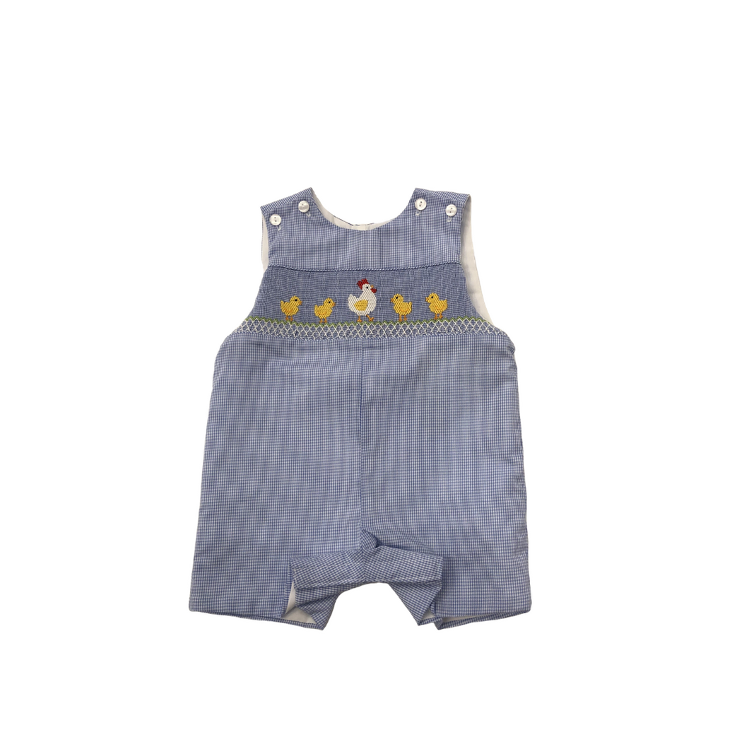 VEL Blue Striped Jon Jon with Chicken Smock
