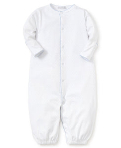 KK White with Blue Swiss Dot Converter Gown