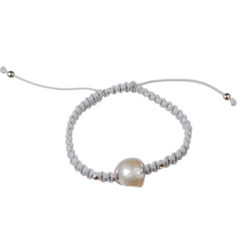 Hope Single Pearl Cord Bracelet