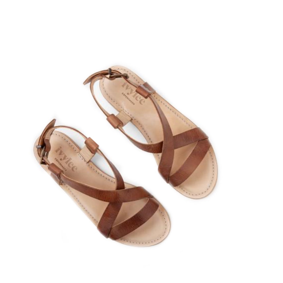 Laura Sandal Escuvado Dark Tan