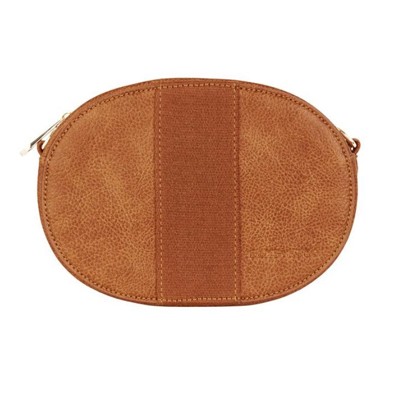 Lexington Crossbody (Oval) Bag - Tan Pebble