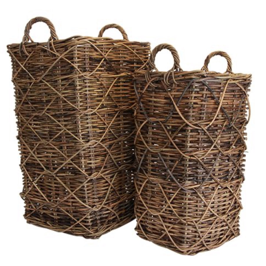 Provence Tall Umbrella Basket Rustic Brown