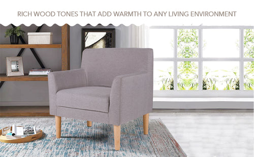 Famree Couches & Sofas Fabric Armchair for Living Room (One-Seater)