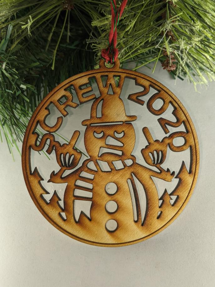 Screw 2020 Snowman Ornament