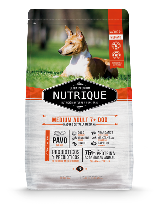 NUTRIQUE SENIOR 7+ RAZA MEDIANA 12KG