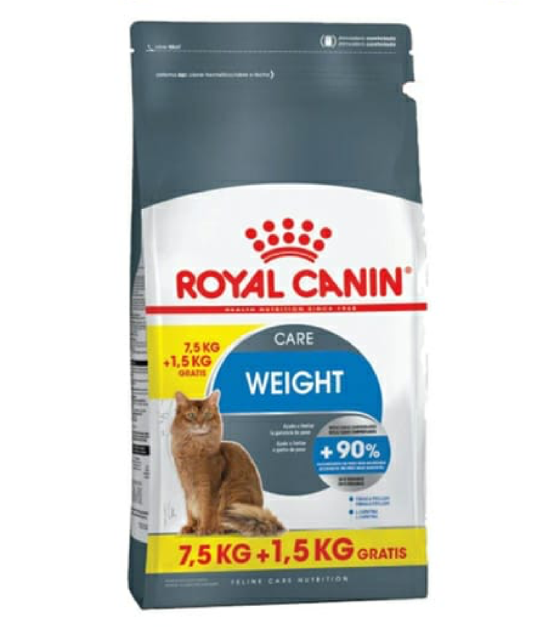 Alimento Royal Canin Gato Weight Care Light 7,5 + 1,5kg de Regalo