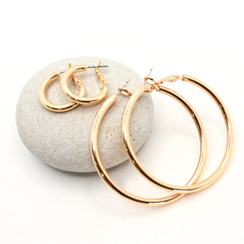 bBJ Classic Hoop Earrings