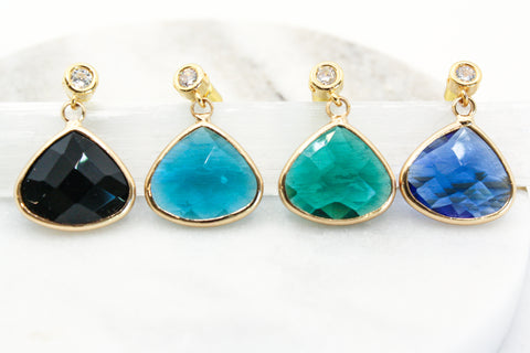 Port Earrings : Aqua