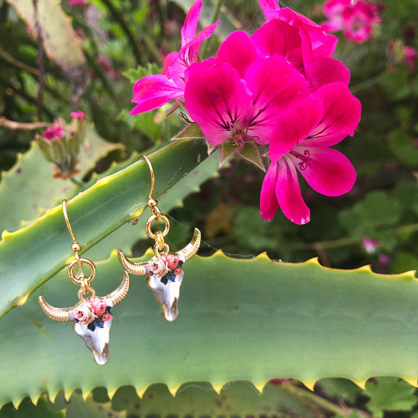 Simple Sets : Kahlo Steer Head Earrings