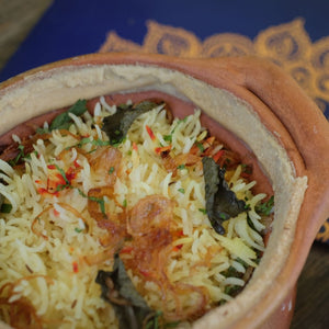 Hydrabadi mutton biryani (in clay pot)