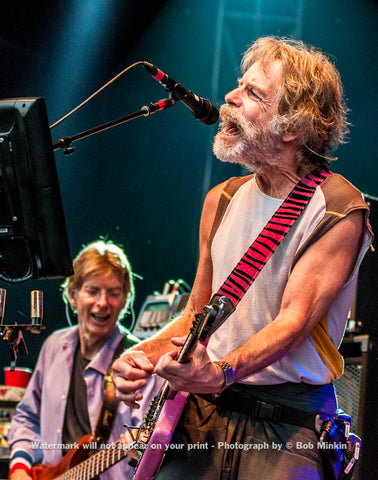 Bob Weir and Phil Lesh - Furthur - Coney Island, NY - 6-26-10 - Bob Minkin Photography