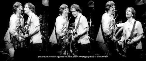 Bob Weir and Phil Lesh - Grateful Dead - Madison Square Garden, New York, NY - 10.11.83 - Bob Minkin Photography