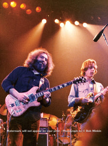 Jerry Garcia and Bob Weir -  Grateful Dead - Winterland, San Francisco, CA - 12.29.77 - Bob Minkin Photography