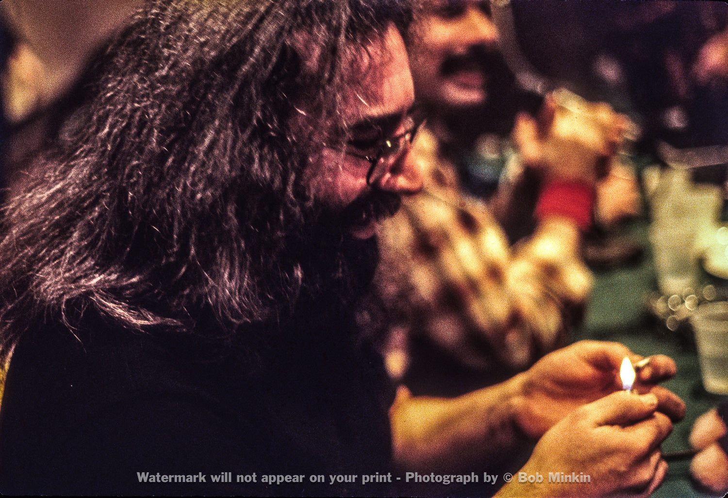 Jerry Garcia – Press Conference, Hilton Hotel, NYC - 1.9.79 - Bob Minkin Photography
