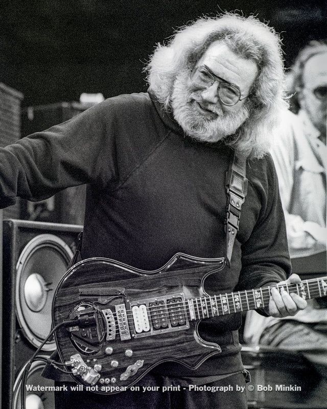 Jerry Garcia – Grateful Dead - Shoreline Amphitheatre, Mountainview, CA - 5.11.91 - Bob Minkin Photography