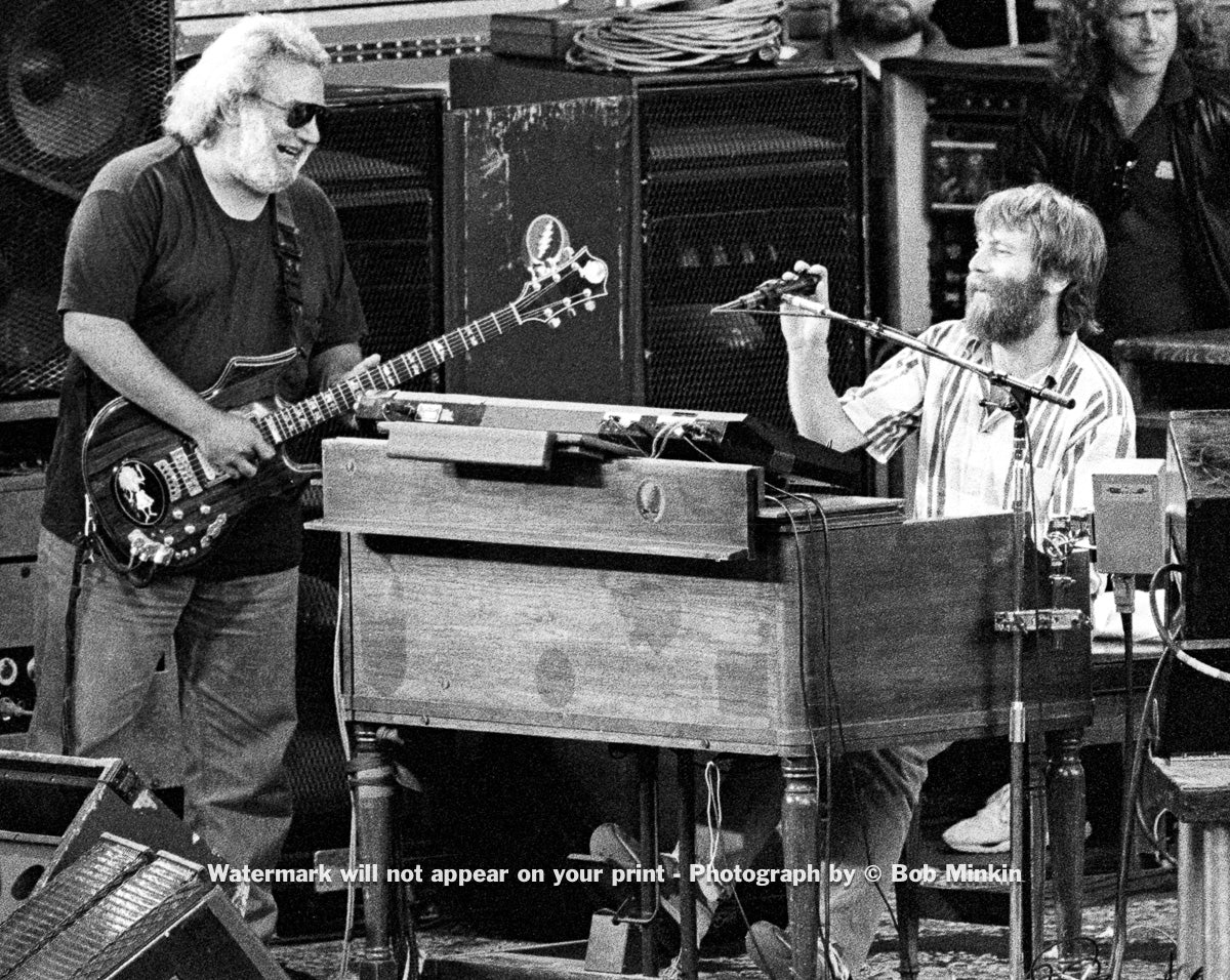 Jerry Garcia and Brent Mydland – Grateful Dead - Shoreline Amphitheatre, Mountainview, CA - 6.15.90 - Bob Minkin Photography