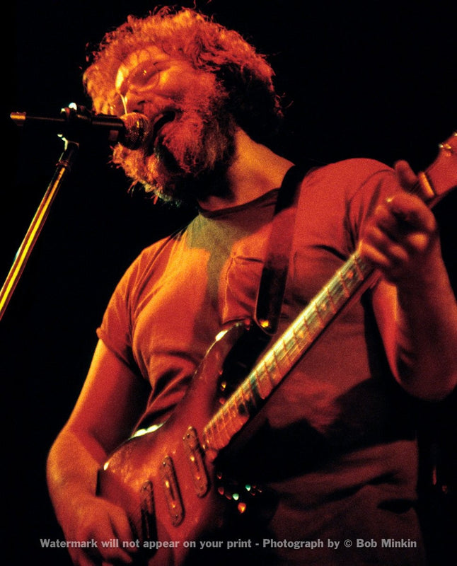 Jerry Garcia – Grateful Dead - Melkweg Club, Amsterdam - 10.16.81-4 - Bob Minkin Photography