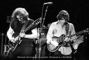 Jerry Garcia and Bob Weir – Grateful Dead - Nassau Coliseum - 10.31.79 - Bob Minkin Photography