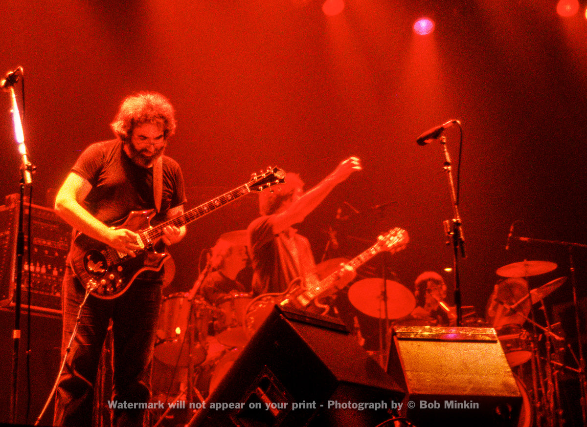 Jerry Garcia – Grateful Dead - The Forum, Copenhagen, Denmark - 10.8.81 - Bob Minkin Photography