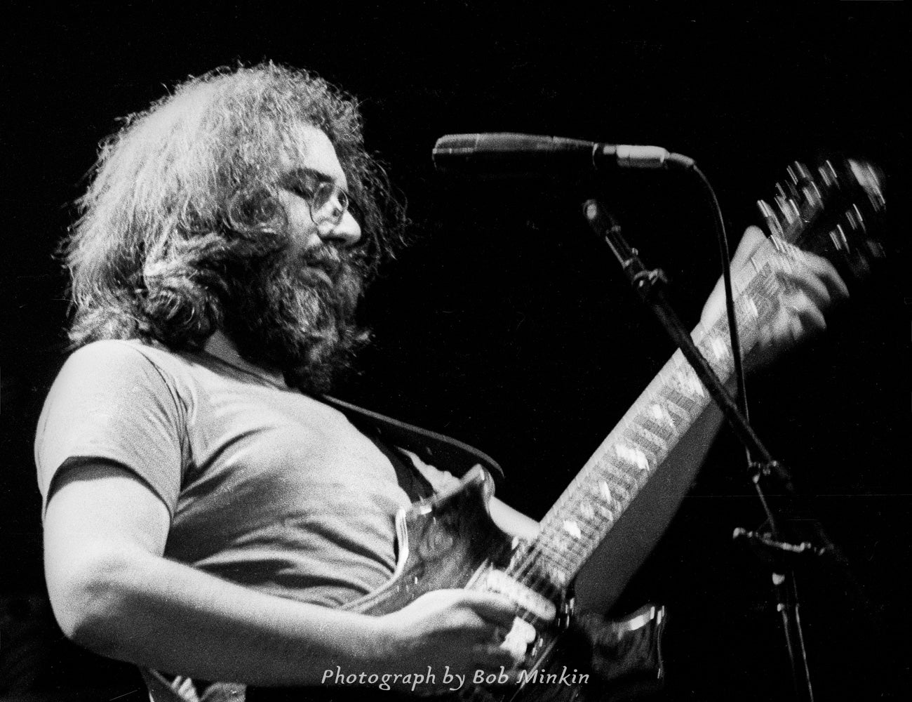 Jerry Garcia - Tower Theater, Upper Darby, PA 2.23.80 - Bob Minkin Photography