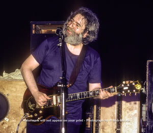 Jerry Garcia - Music Mountain, S. Fallsburg, NY - 6.16.82 - Bob Minkin Photography