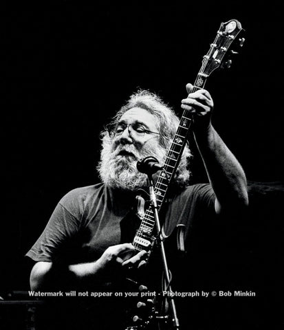 Jerry Garcia - Lunt-Fontanne Theatre, NYC - 10.31.87-1 - Bob Minkin Photography