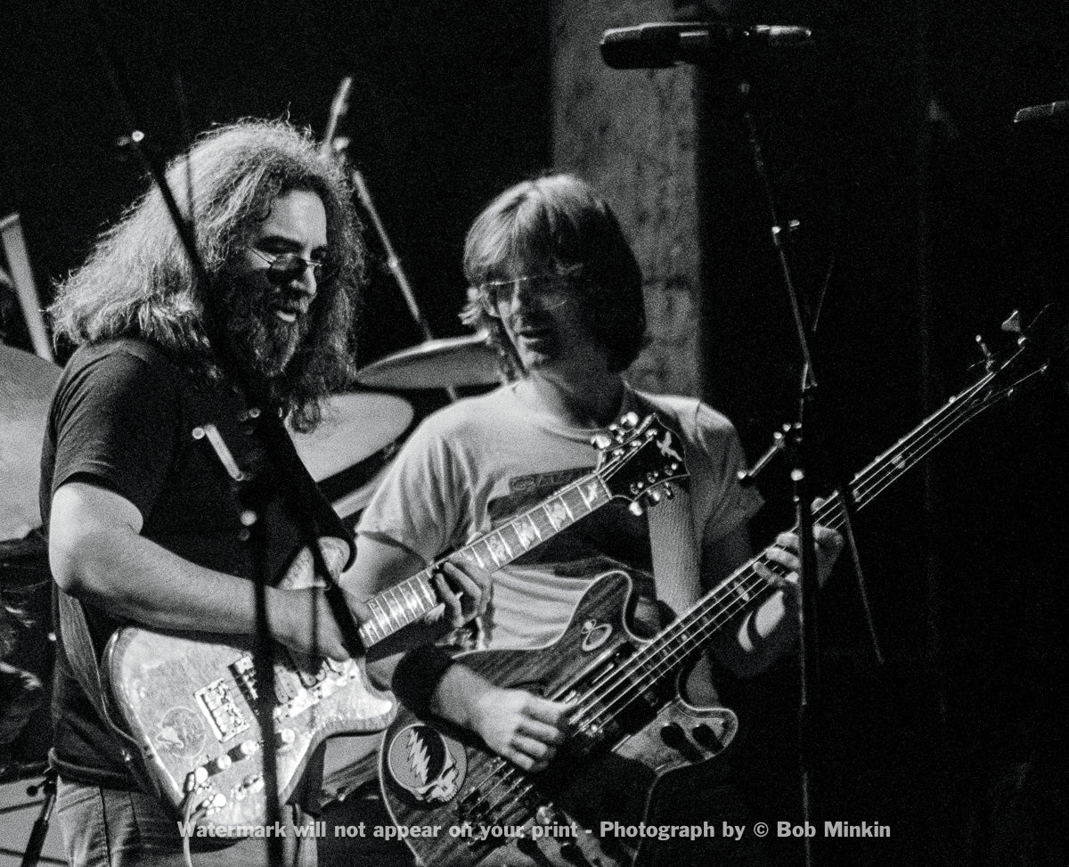 Jerry Garcia and Phil Lesh - Grateful Dead - Madison Square Garden, New York, NY - 1.8.79 - Bob Minkin Photography