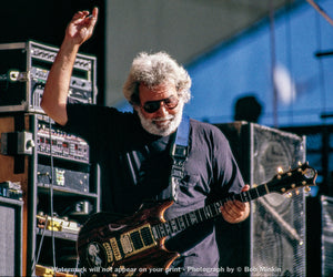 Jerry Garcia – Grateful Dead - Shoreline Amphitheatre, Mountainview, CA - 6.15.90 - Bob Minkin Photography
