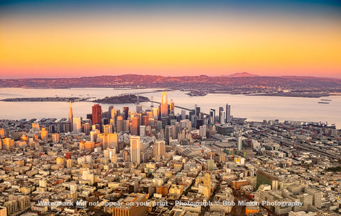 San Francisco—Golden Light and a Rainbow Sky