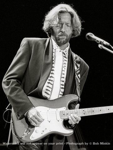 Eric Clapton -  Shoreline Amphitheater, Mountain View, CA - 5.5.90-6 - Bob Minkin Photography