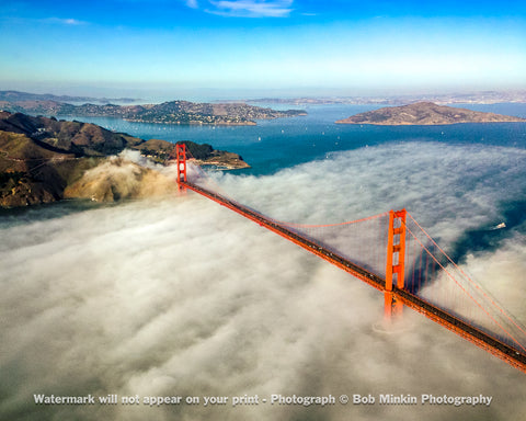 Golden Gate Bridge - The fog rolling in from the ocean
