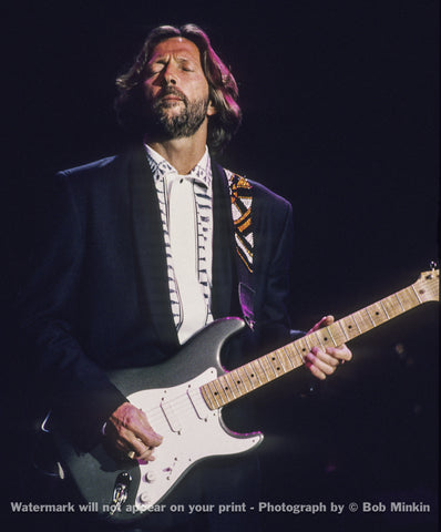 Eric Clapton -  Shoreline Amphitheater, Mountain View, CA - 5.5.90-4 - Bob Minkin Photography