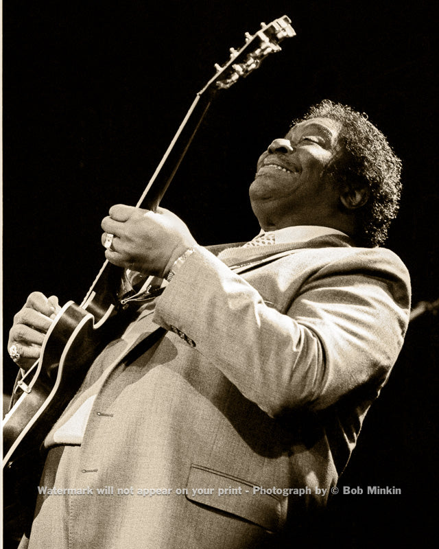 B.B. King - The Ritz, NYC - 3.12.87-2 - Bob Minkin Photography
