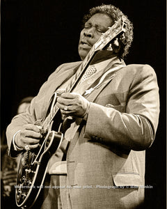 B.B. King - The Ritz, NYC - 3.12.87 - Bob Minkin Photography