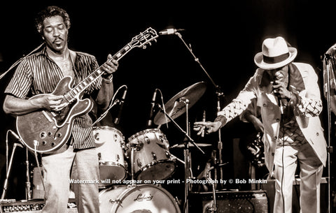 Buddy Guy and Junior Wells - Antones, Austin, TX - July 1985 - Bob Minkin Photography