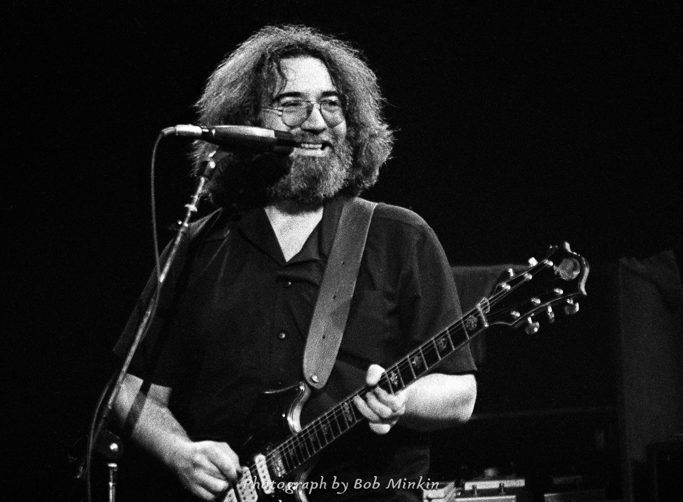 Jerry Garcia - Grateful Dead - Hollywood Sportatorium, Pembroke Pines, FL 11.26.80 - Bob Minkin Photography