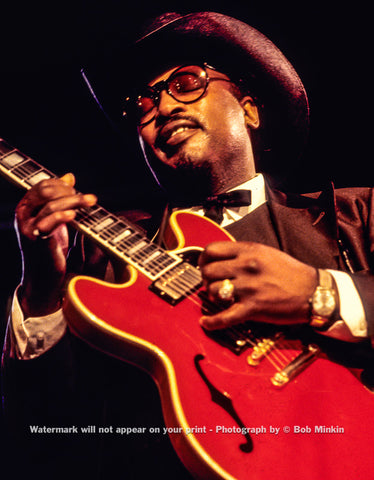 Otis Rush - Antones, Austin, TX - July 1985 - Bob Minkin Photography