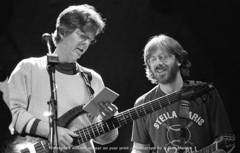 Trey Anastasio and Phil Lesh -  Warfield Theater, CA - 4.15.99 - Bob Minkin Photography