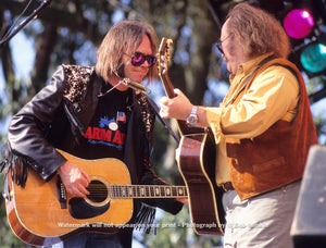 Neil Young and David Crosby - Golden Gate Park, San Francisco, CA - 11.3.91 - Bob Minkin Photography