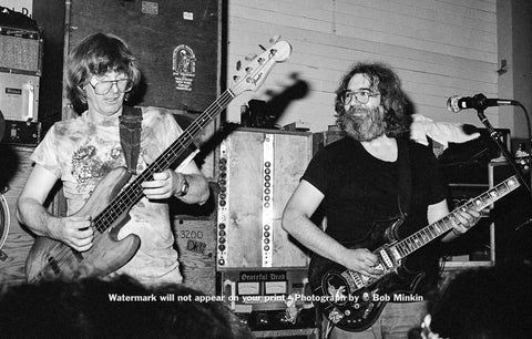 Jerry Garcia and Phil Lesh - Fairfax Pavilion, Fairfax, CA - 8.22.81 - Bob Minkin Photography