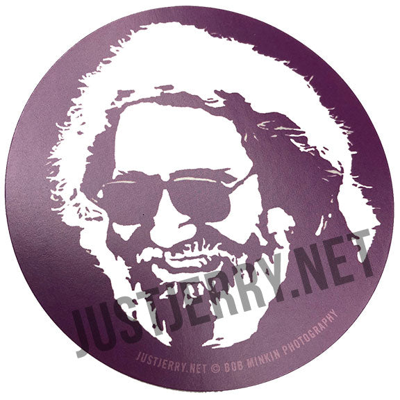 Jerry Garcia Stickers - Pack of 10 Stickers - Bob Minkin Photography