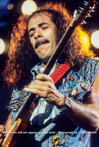 Carlos Santana -  The Pier, NYC - July 1987 - Bob Minkin Photography